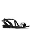 Zwarte sandalen met parels