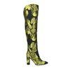 Zwarte overknee laarzen met bloemen