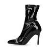 Zwarte lak sock boots