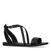 Zwarte sandalen met gespsluiting