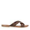 Slippers met snakeskin en gouden ring
