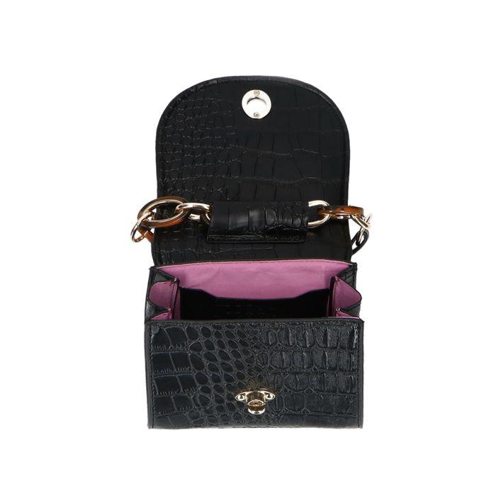 Mini bag met crocoprint