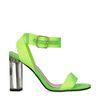 Neon groene sandalen met hak