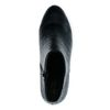 Zwarte enkellaarsjes met crocoprint
