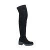 Zwarte hoge laarzen met dikke zool