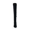 Zwarte hoge laarzen met ronde neus