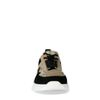 Zwarte sneakers met metallic details