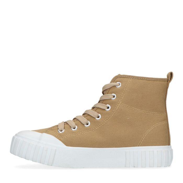 Half hoge beige sneakers