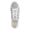 Witte lage sneakers met strepen