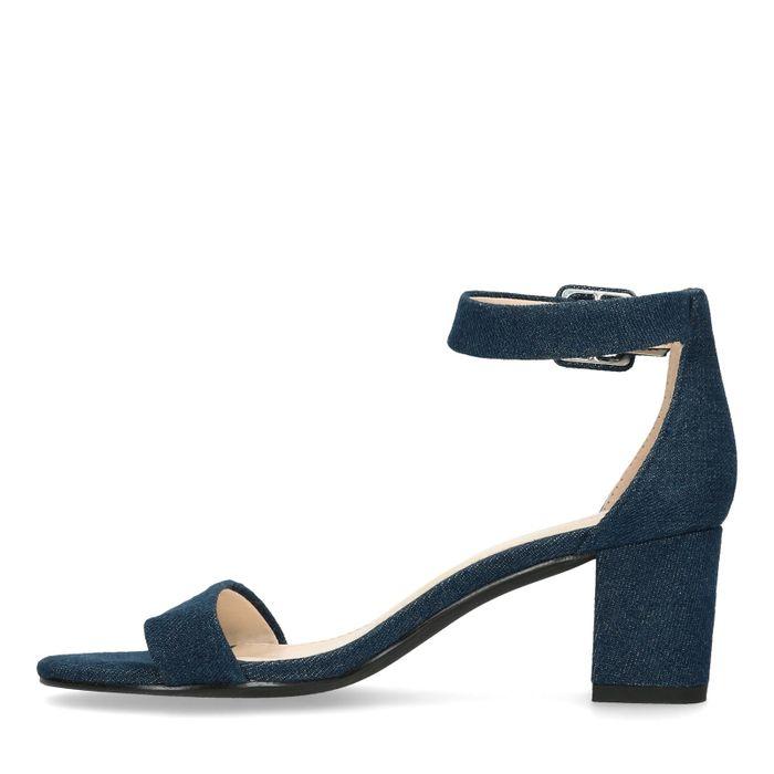Sandalen met hak met denim