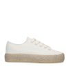 Off white sneakers met touwzool