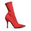 Rode sock boots met hak