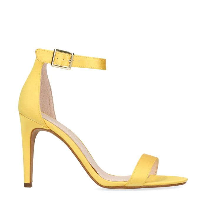 Gele pumps satijn