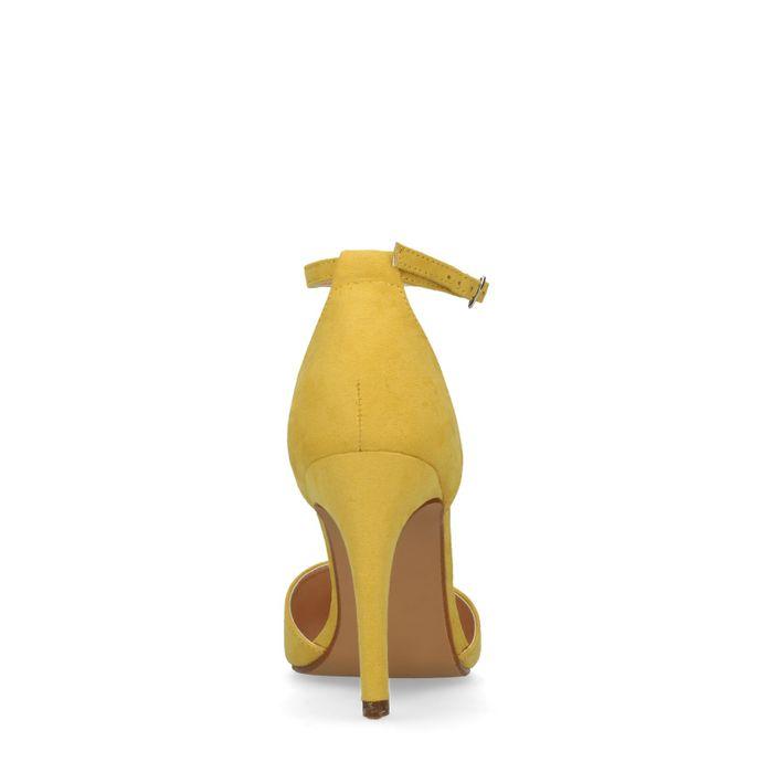 Gele pumps met enkelbandje