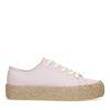 Lila platform sneakers met touwzool