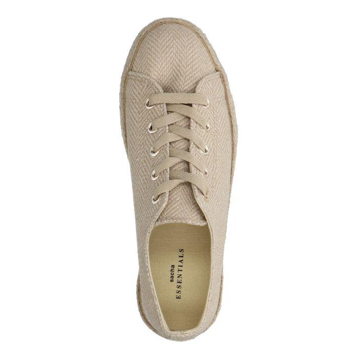 Goudkleurige canvas platform sneakers