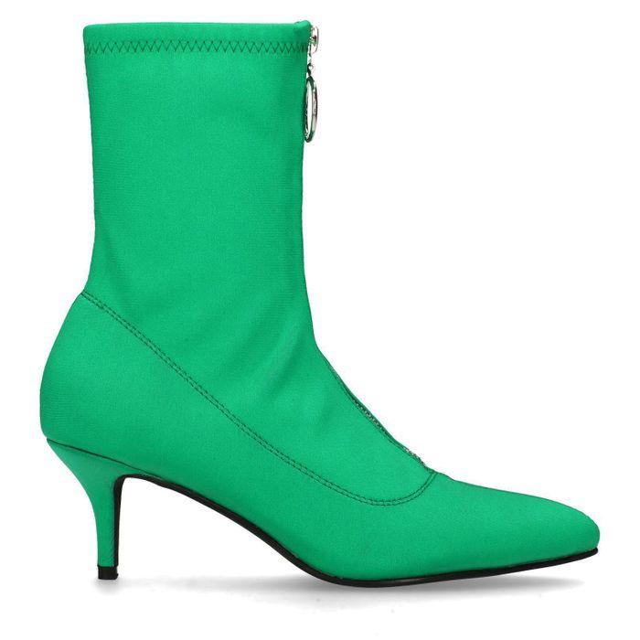 Groene sock boots met rits