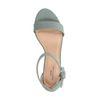 Blauwe sandalen met hak