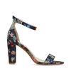 Sandalen met hak bloemenprint