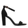 Zwarte sandalen met hak