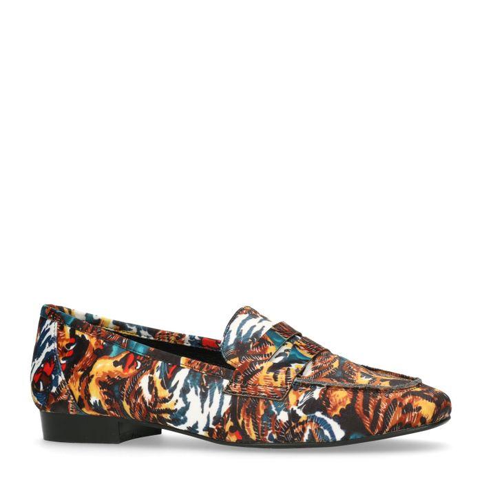Loafers met tijgerprint