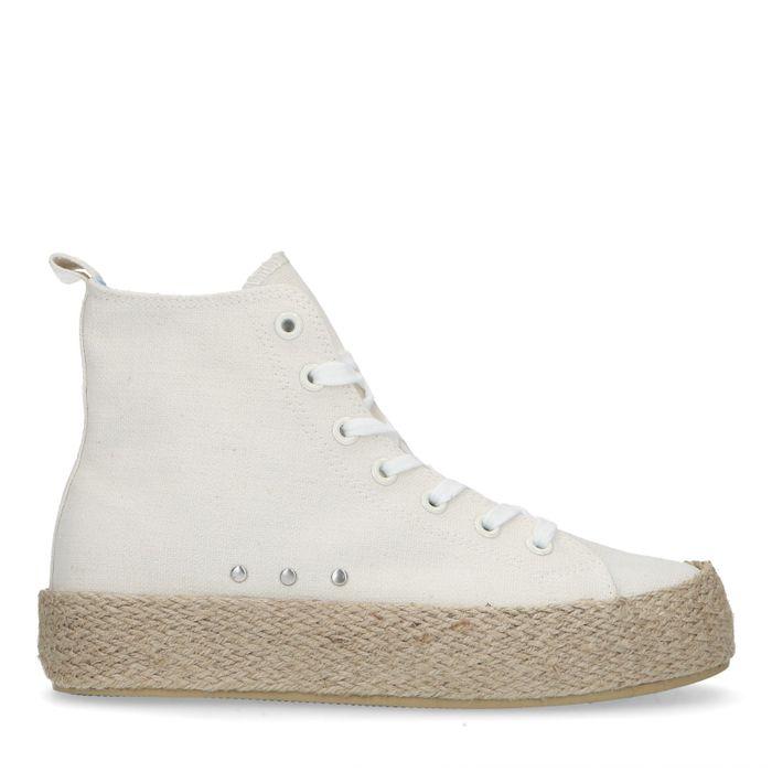 Half hoge off white sneakers