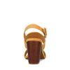 Gele ribstof sandalen met hak