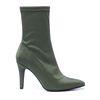 Donkergroene sock boots met hak