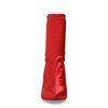 Rode satijnen sock boots met hak