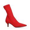 Rode sock boots met kitten heel