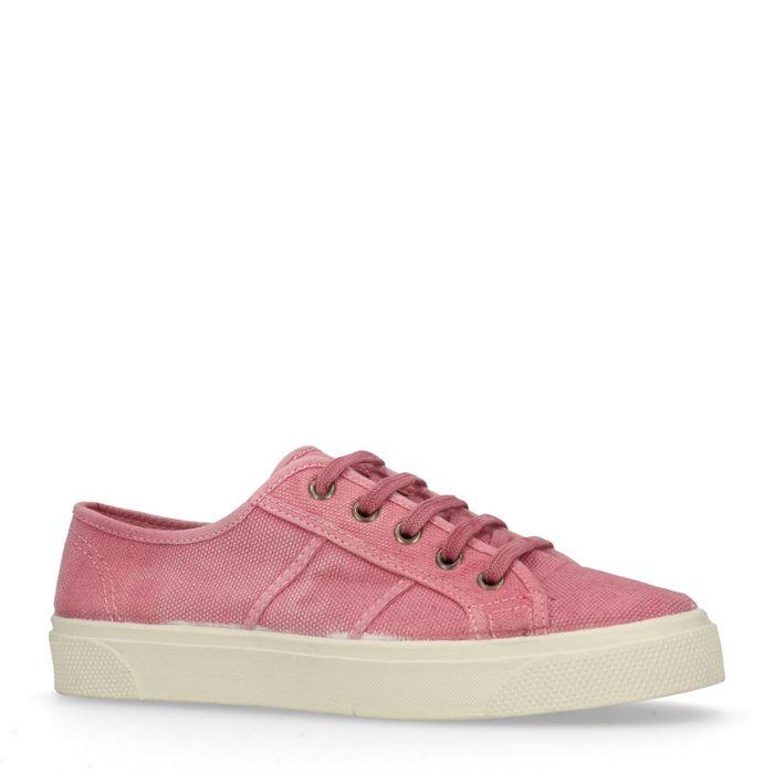 Roze lage sneakers
