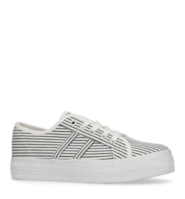 Blauw/witte platform sneakers