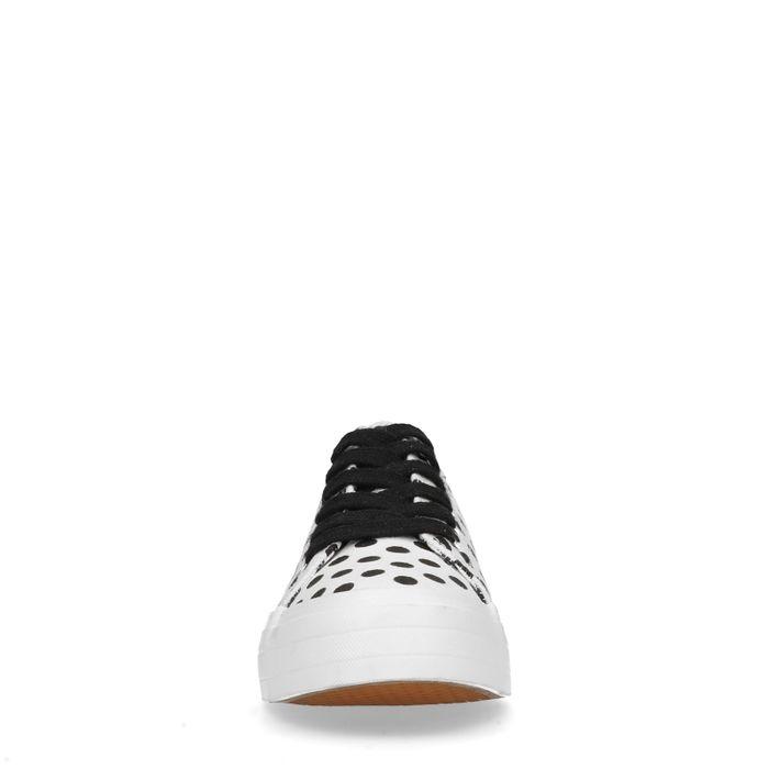 Witte platform sneakers met stippen