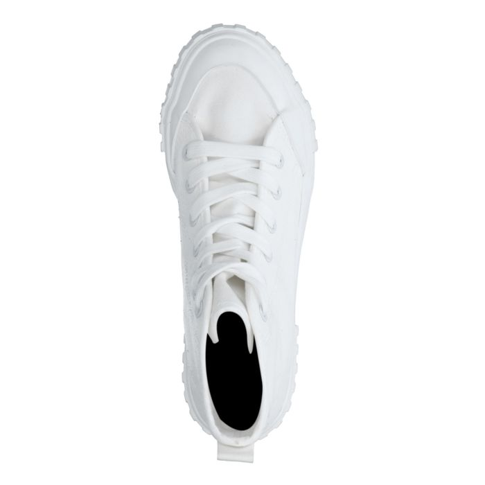 Half hoge witte sneakers