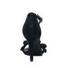 Zwarte glitter pumps met ruffels
