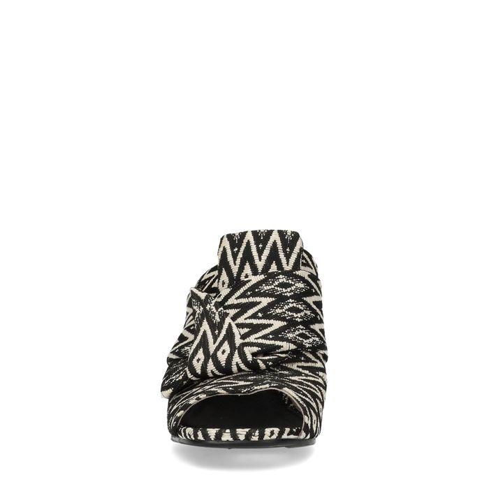 Muiltjes met zwart wit print