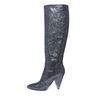 Zwarte glitter hoge laarzen