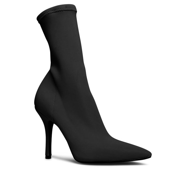 Zwarte sock boots met hak