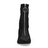 Zwarte satijnen sock boots met rits