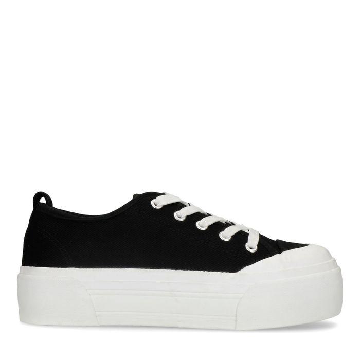 Zwarte platform sneakers