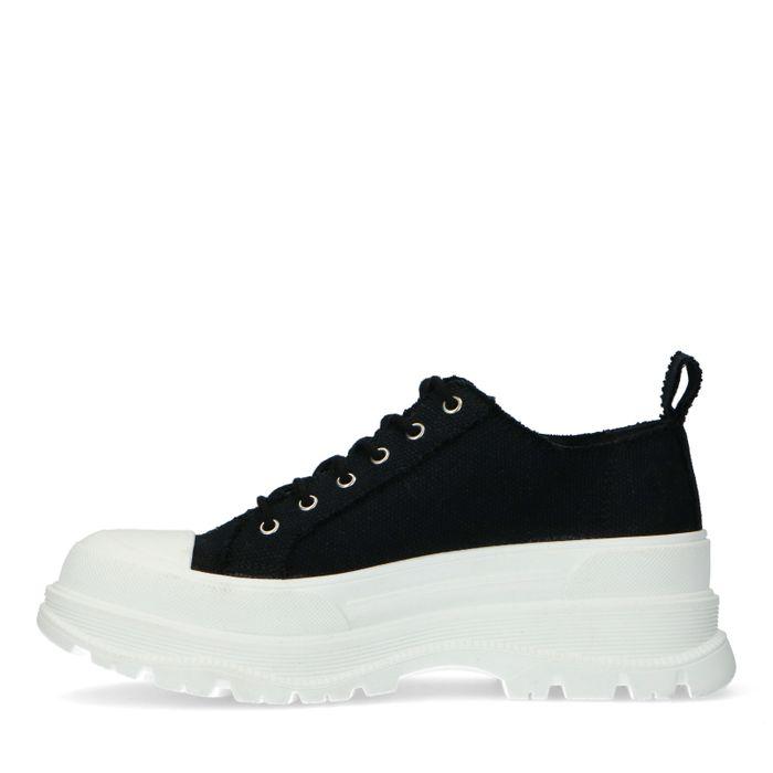 Zwarte dad sneakers van textiel