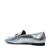 Loafers en cuir - argenté