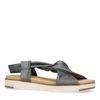 Sandales en cuir - gris