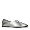 Loafers en cuir métallisés - argenté