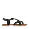 Sandales avec brides croisées - noir
