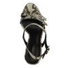 Sandales à talon avec motif peau de serpent - beige