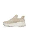 Dad shoes en cuir - beige