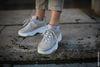 Dad shoes en cuir - beige