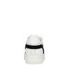 Baskets à plateforme cuir avec imprimé serpent - blanc