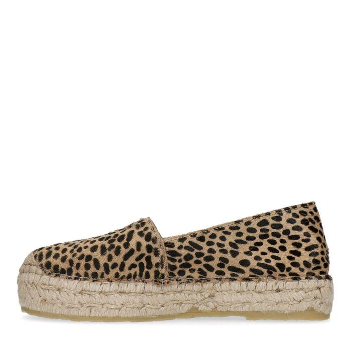 Espadrilles à plateforme avec imprimé léopard